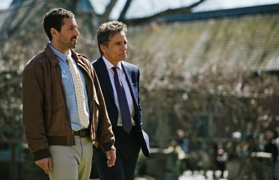 Danny (Adam Sandler, étonnamment juste) joue le demi-frère de Matthew (Ben Stiller), considéré par tous comme le préféré du patriarche de la famille Meyerowitz.