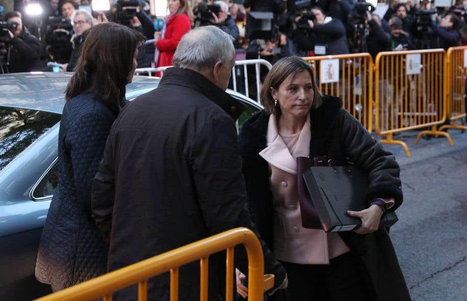 La présidente du Parlement de Catalogne, Carme Forcadell