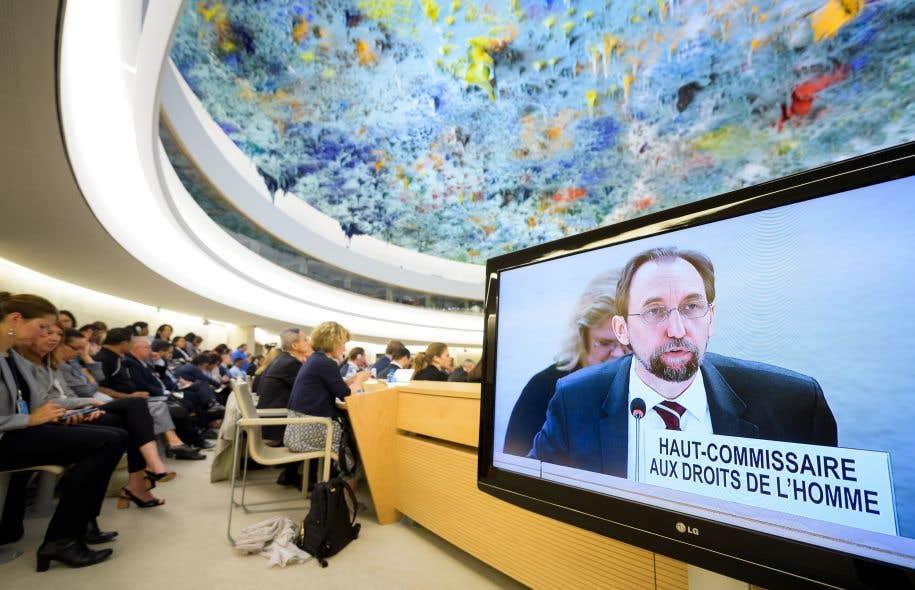 Le haut-commissaire de l'ONU aux droits de l'homme, Zeid Ra'ad Al Hussein, lors d'une allocution en juin dernier à Genève