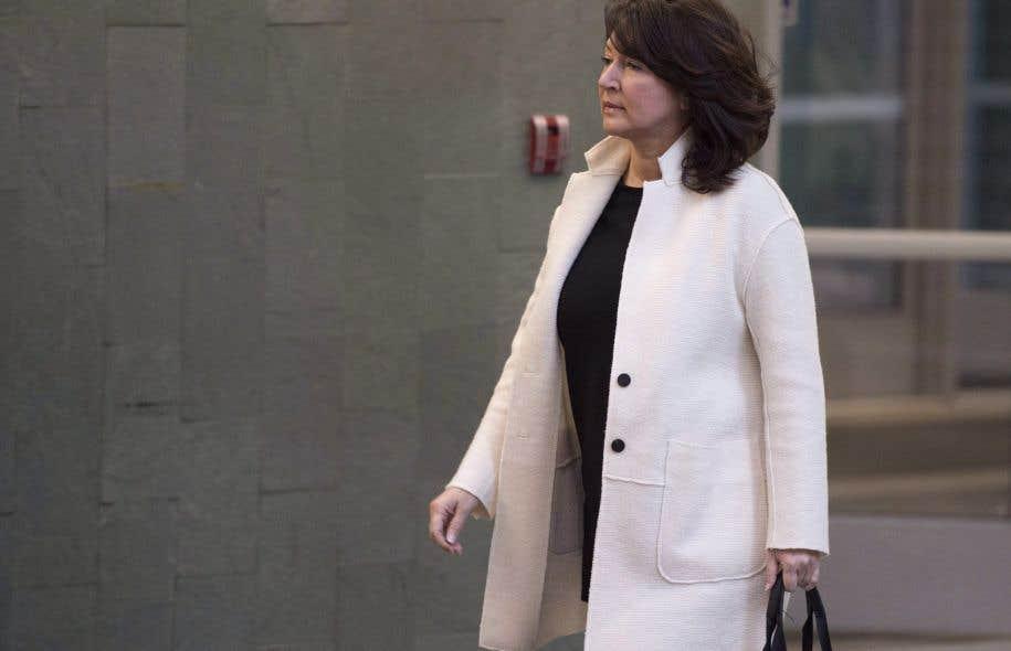 L'ex-vice-première ministre libérale Nathalie Normandeau lors de son passage au palais de justice de Québec, le 30 octobre dernier