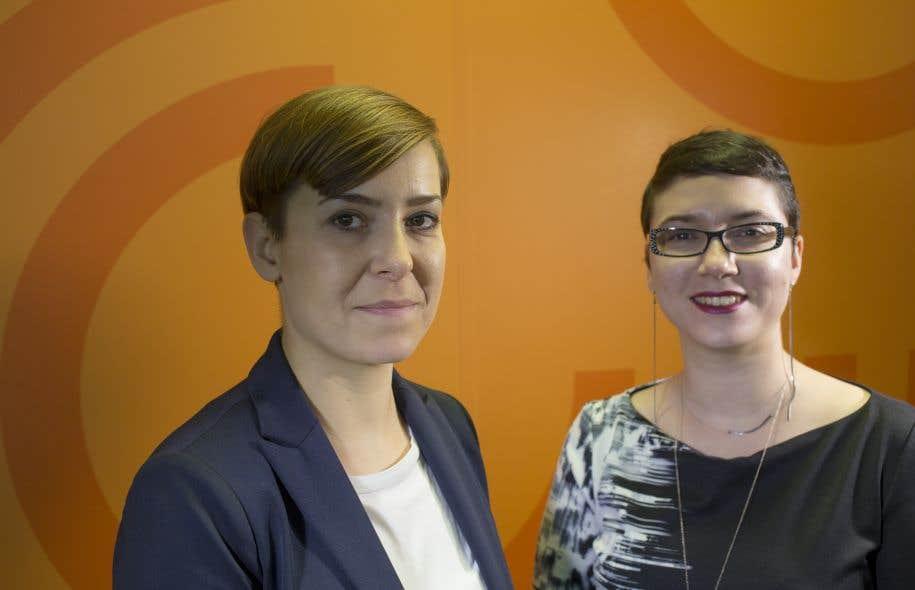 La directrice du Goethe-Institut de Montréal, Katja Melzer (à gauche)