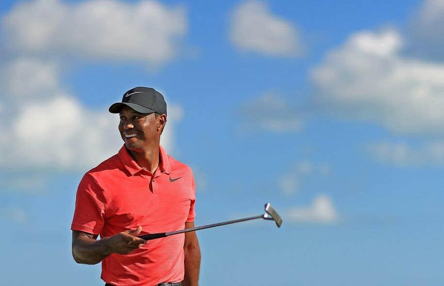 Tiger Woods lors de son grand retour au Hero World Chalenge