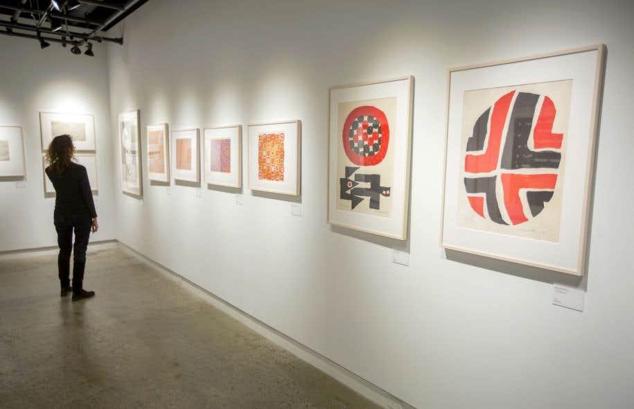 Les œuvres exposées à l'Atelier circulaire ne sont pas faites selon la technique traditionnelle d'estampe japonaise, appliquée sur du bois gravé.