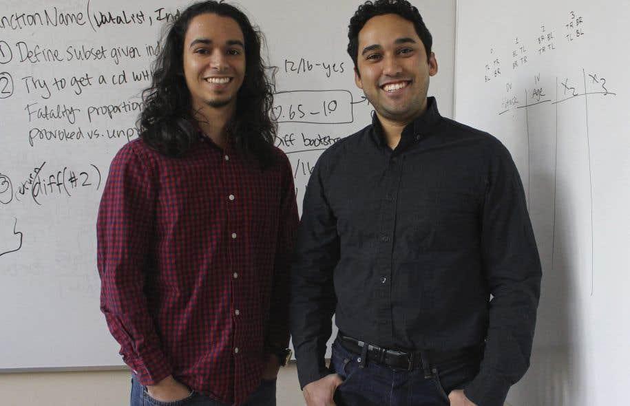 Les diplômés de Yale Michael Lopez-Brau, à gauche, et Stefan Uddenberg ont contribué à créer le module «Open Mind».