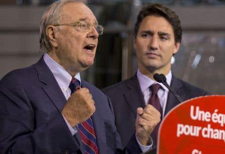 L'ancien premier ministre Paul Martin — l'homme derrière les budgets équilibrés des gouvernements Chrétien —accompagnait Justin Trudeau à Montréal vendredi.