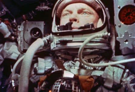 L'ancien astronaute et sénateur John Glenn lors de la mission Mercury-Atlas 6