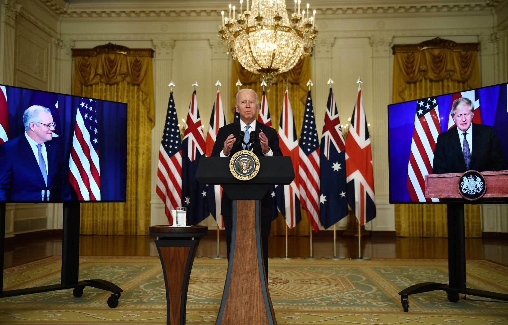 Le partenariat stratégique entre les États-Unis, le Royaume-uni et l'Australie, annoncé mercredi soir,inclutla fourniture de sous-marins américains à propulsion nucléaire à Canberra, qui devaient initialement être fournis par la France.
