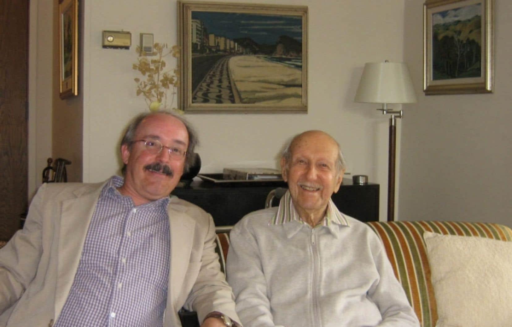 Daniel Garneau et Pierre Dansereau, en 2008<br />