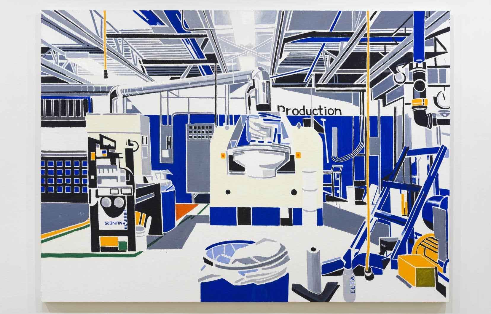 Michael Merrill, «Paint Factory» (White), 2019