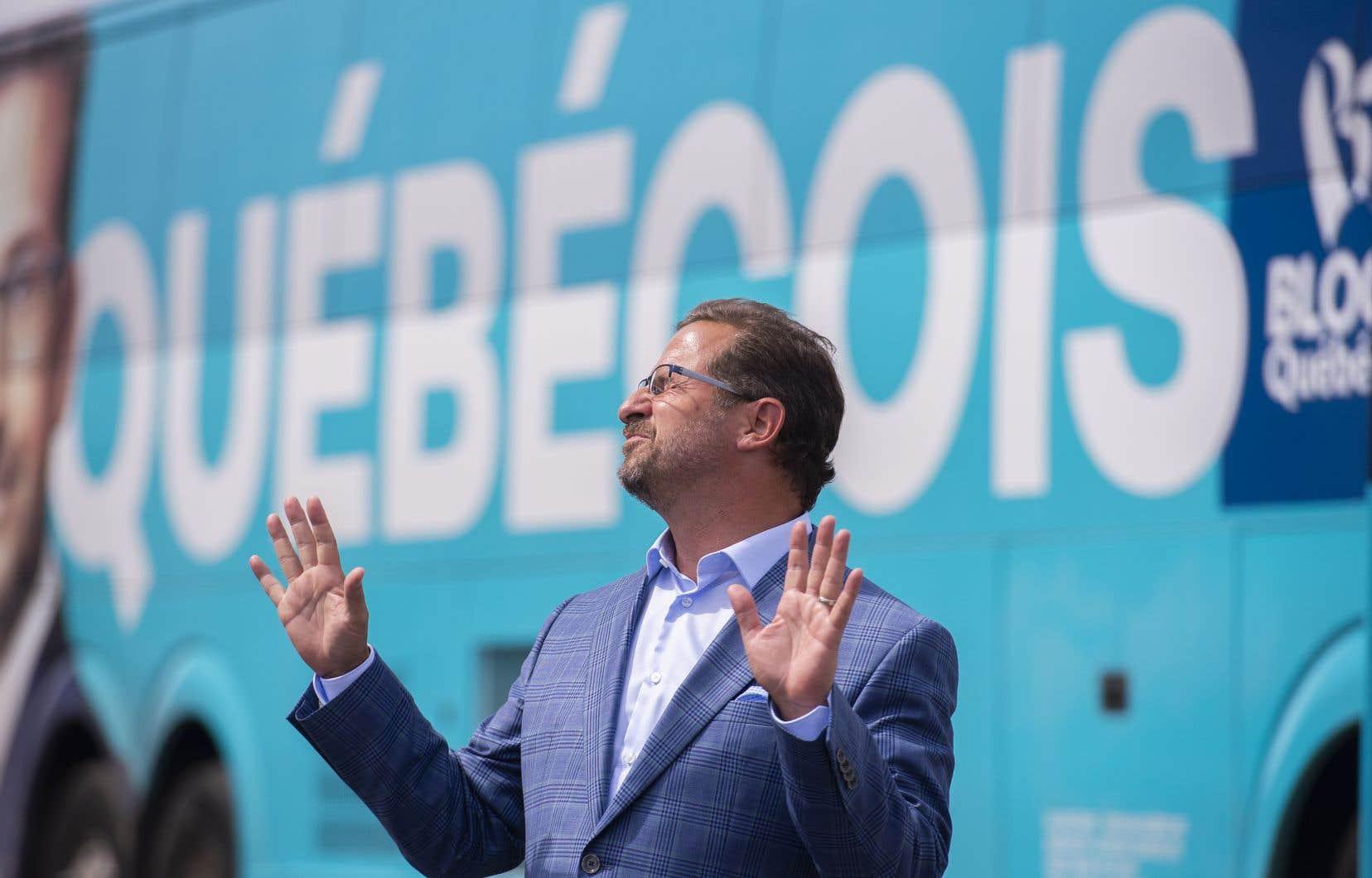 Le chef bloquiste Yves-François Blanchet a commenté l'appel de Brian Mulroney à voter conservateur au scrutin de lundi prochain.