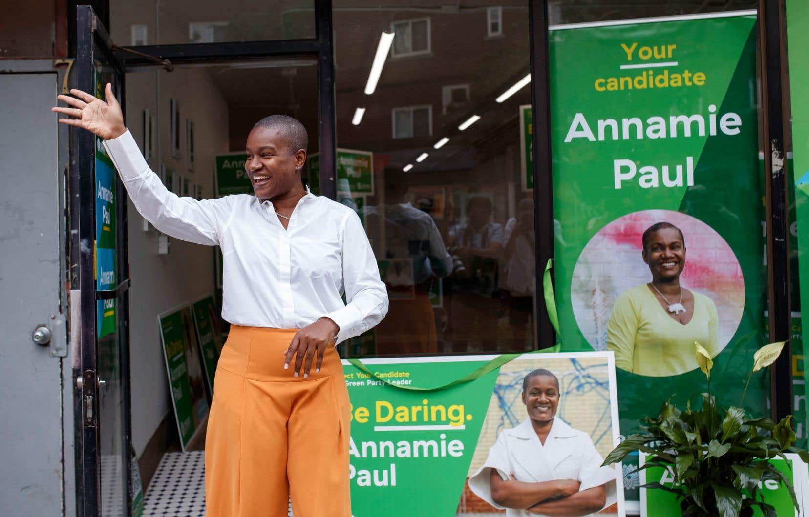 La candidate du Parti vert du Canada, Annamie Paul