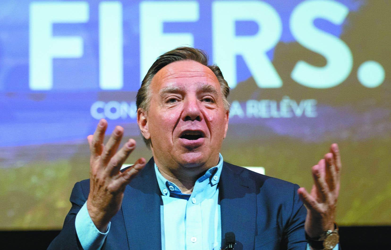 «Ce n'est pas le temps au Québec de se diviser. C'est le temps de défendre notre cohésion sociale», a dit le premier ministre durant son allocution,
