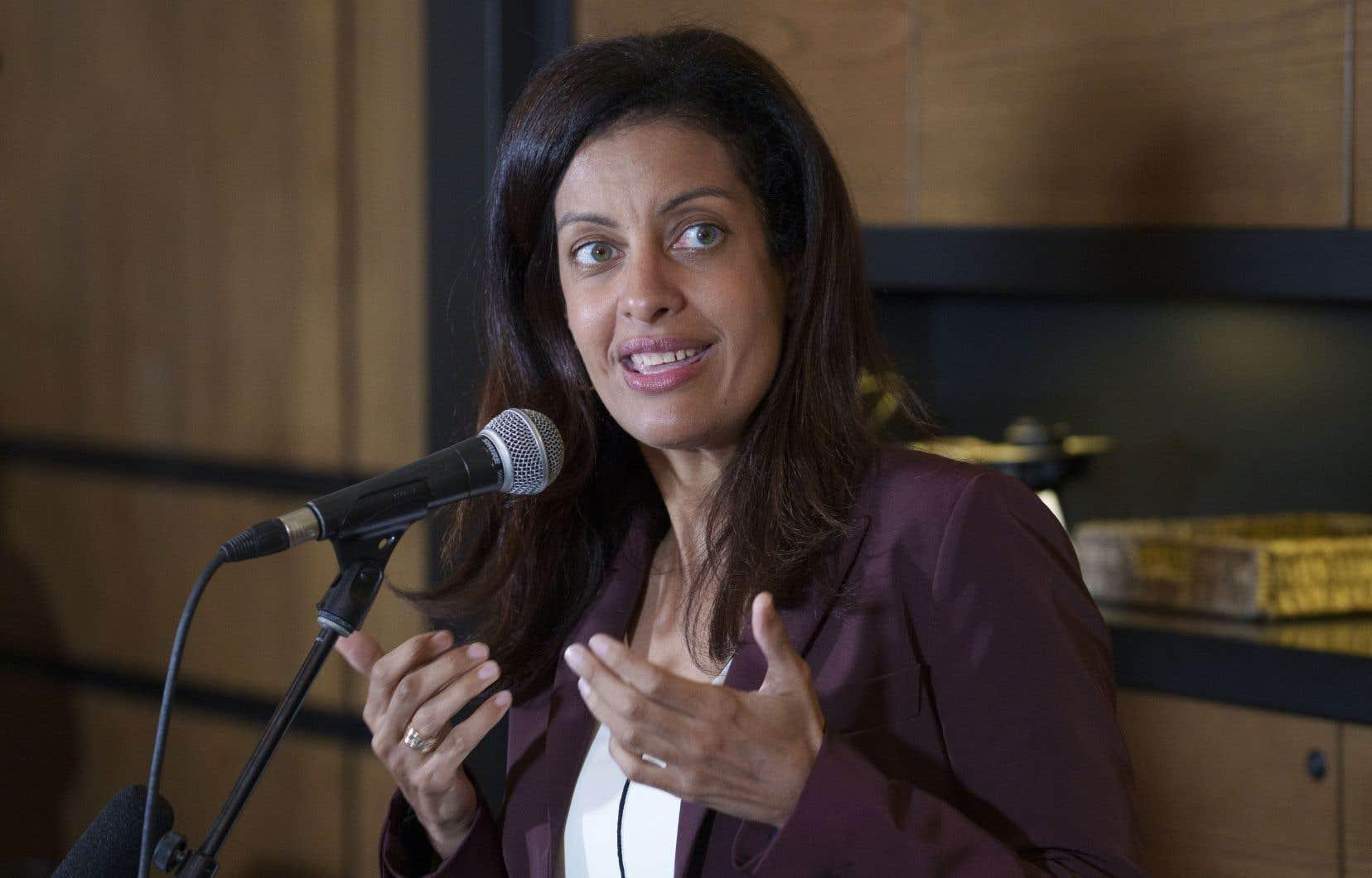 La cheffe libérale Dominique Anglade compte déposer un projet de loi pour ancrer l'objectif de carboneutralité d'ici 2050