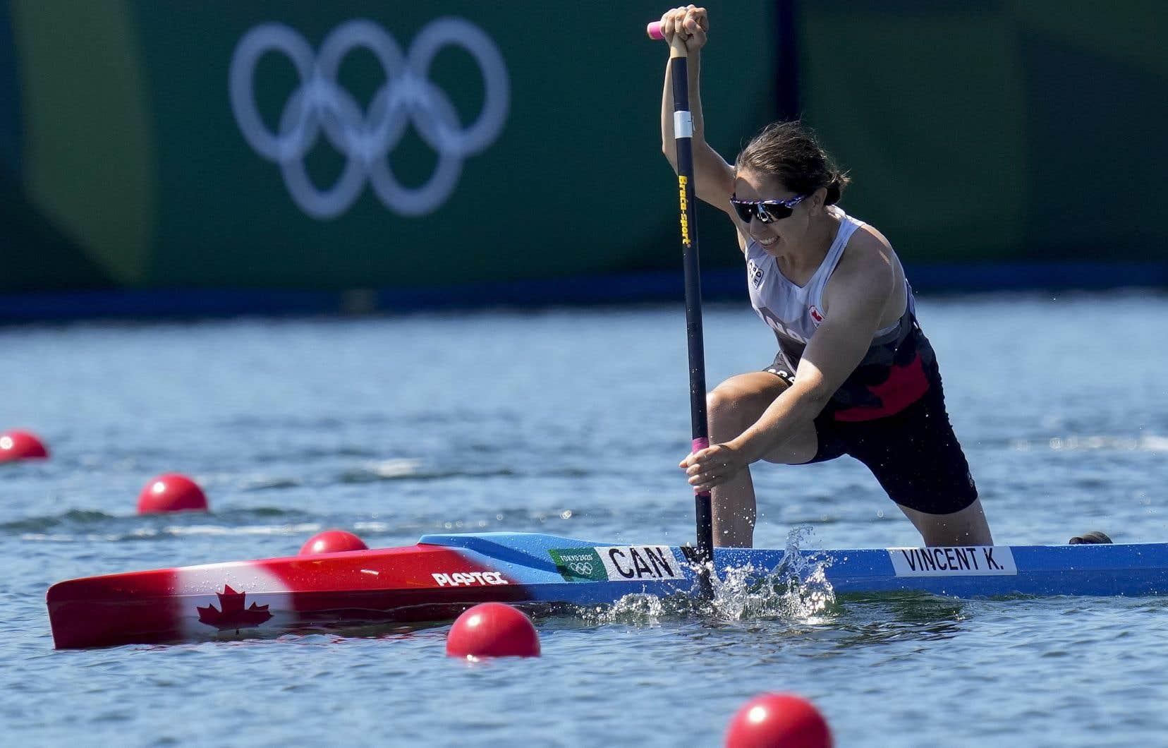 Vincent n'avait jamais remporté de médaille sur cette distance à cet événement. On la voit ici lors des Jeux olympiques de Tokyo.