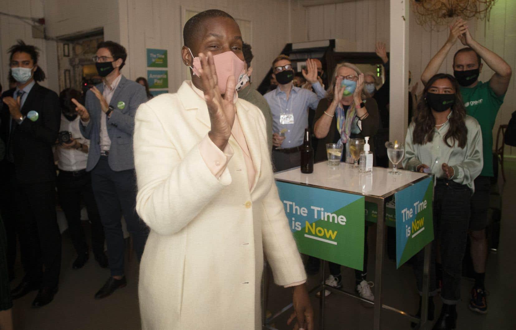 La cheffe du Parti vert du Canada, Annamie Paul, a décidé de faire campagne presque uniquement dans Toronto-Centre.