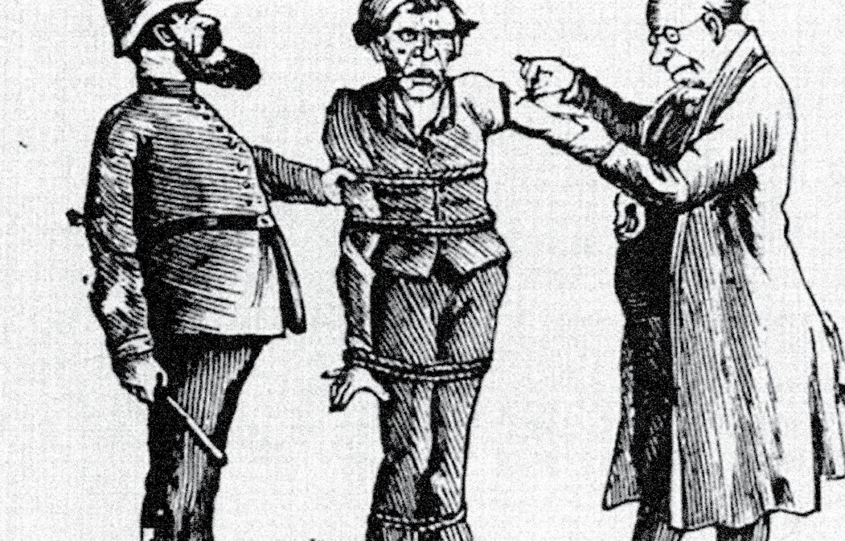 La résistance aux vaccins remonte à l'avènement du premier vaccin, soit l'antivariolique, comme le représente cette caricature d'époque