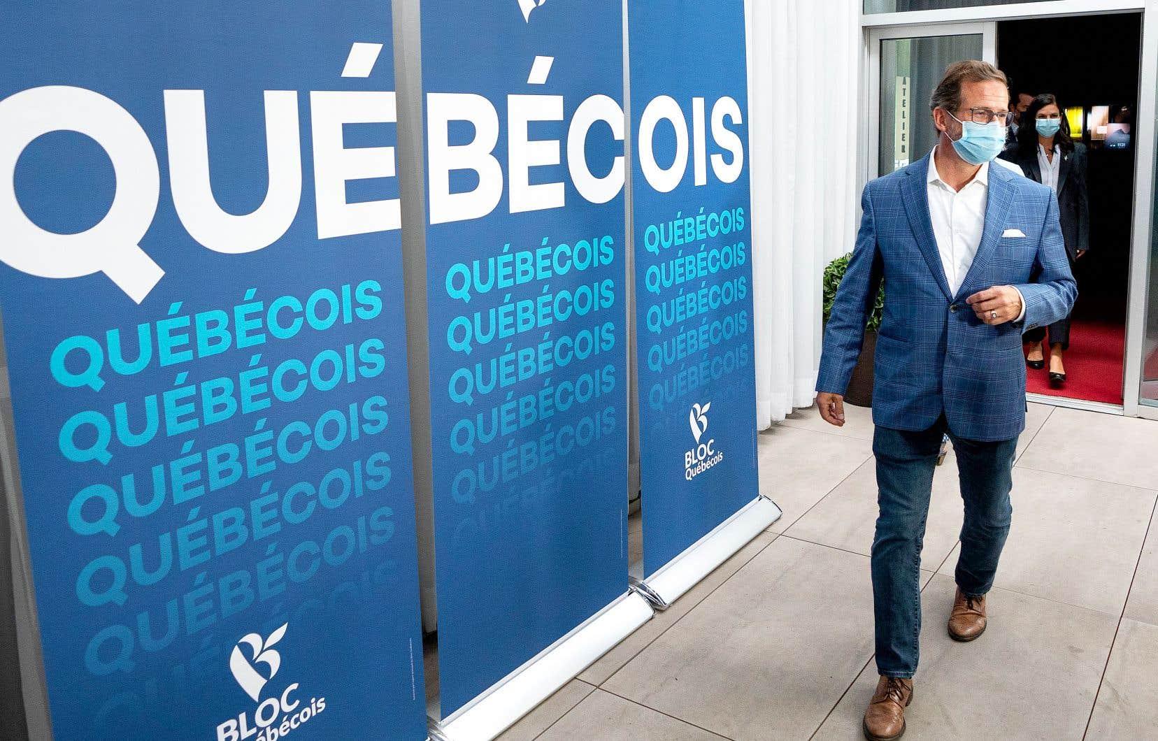 Le chef du Bloc québécois, Yves-François Blanchet