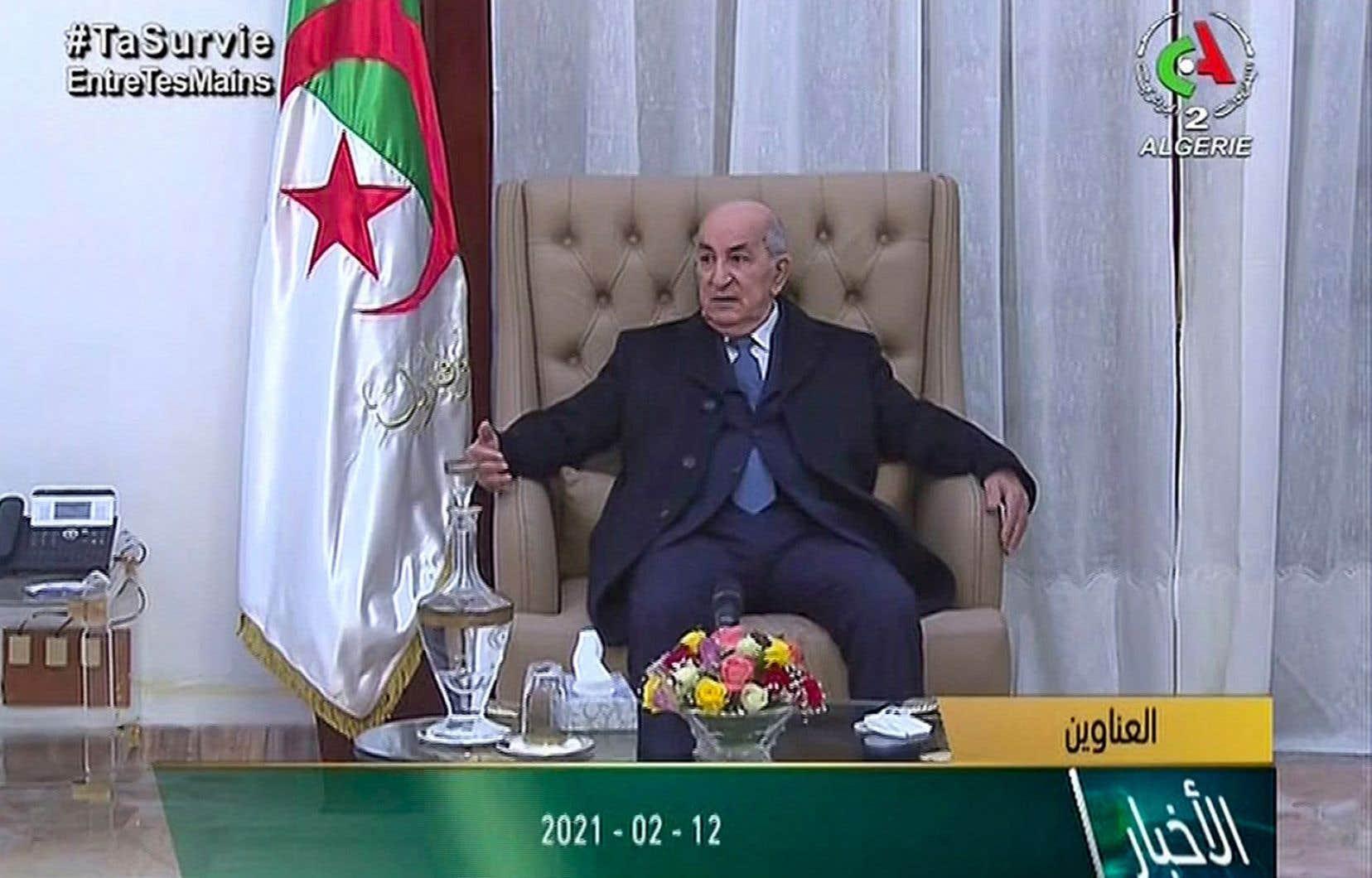 Le président algérienAbdelmadjid Tebboune.