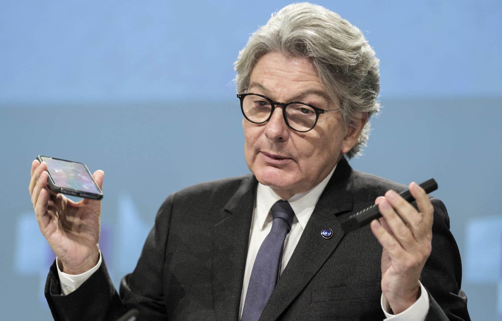 Le commissaire européen au marché intérieur, Thierry Breton