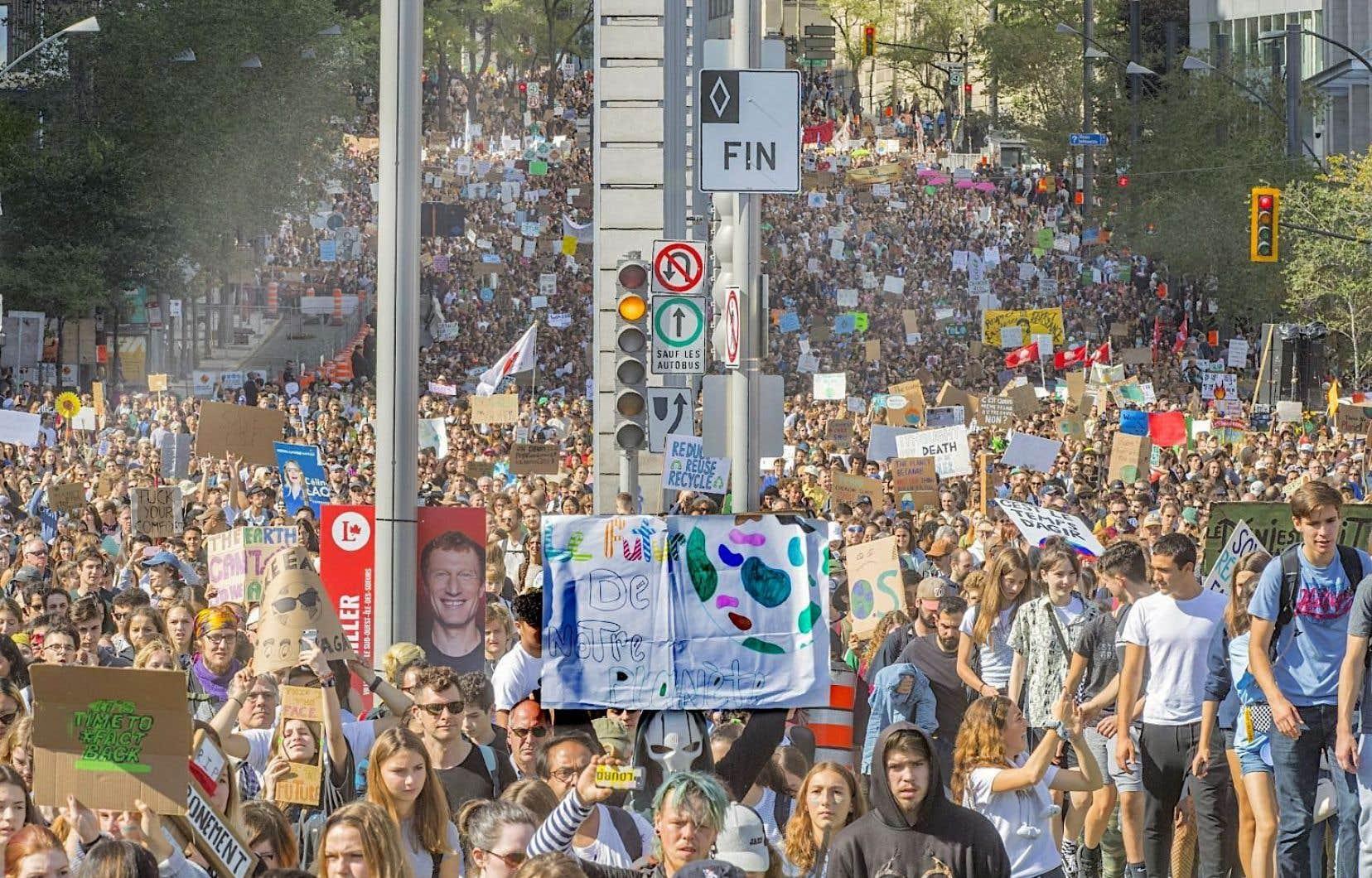 En septembre 2019, environ 500000 personnes avaient participé à l'imposante manifestation pour le climat à Montréal.
