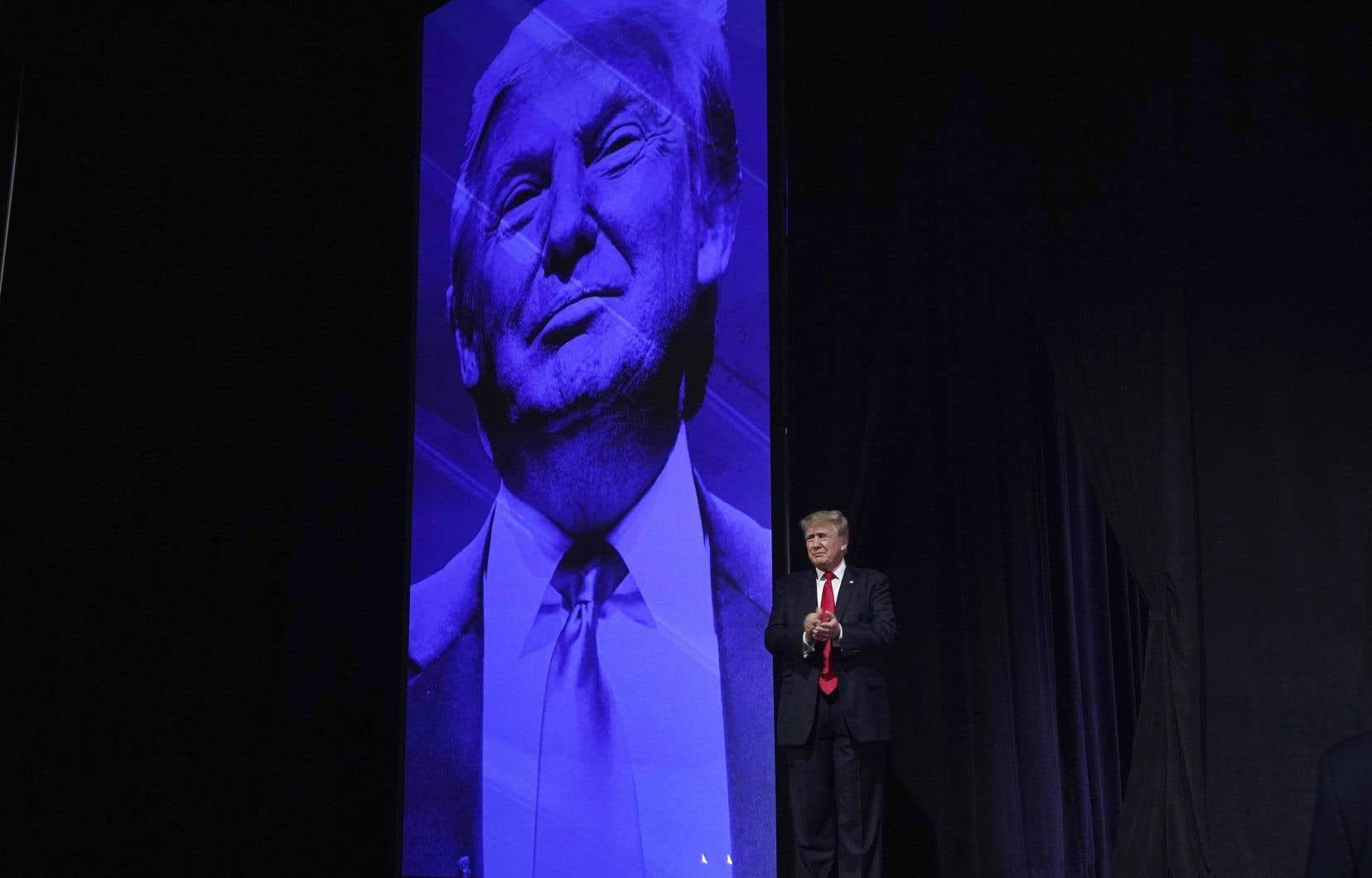 L'ancien président républicain Donald Trump, lors d'un rassemblement avec ses partisans, à Phoenix, en juillet dernier