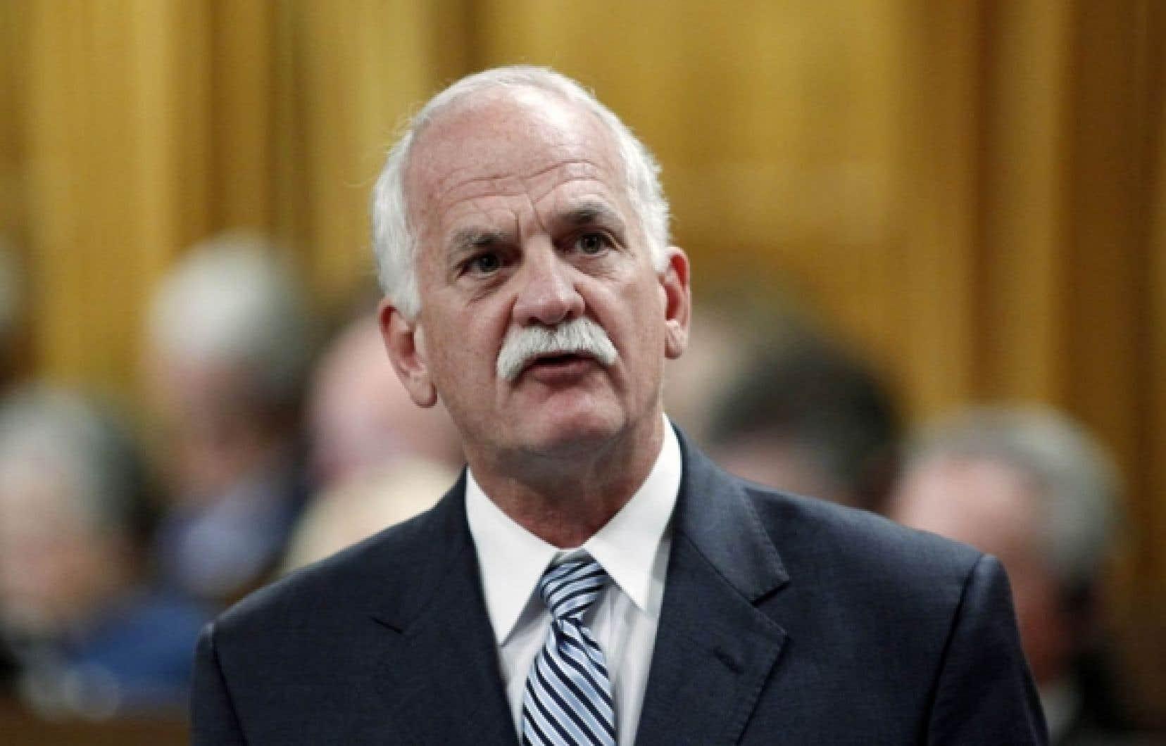 Le ministre de la Sécurité publique, Vic Toews.<br />