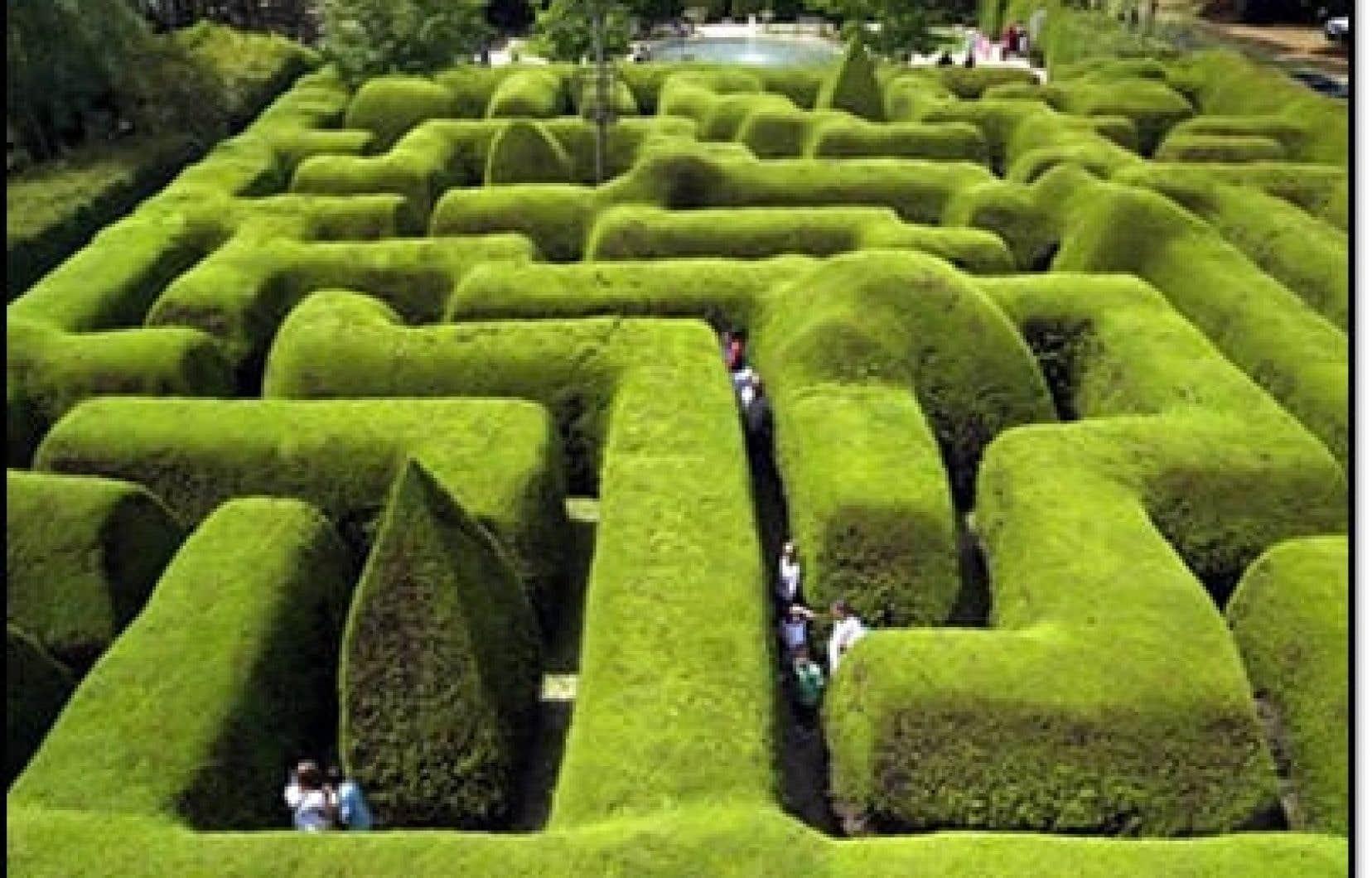 Labyrinthe d&#39;Ashcombe, Victoria, Australie<br />