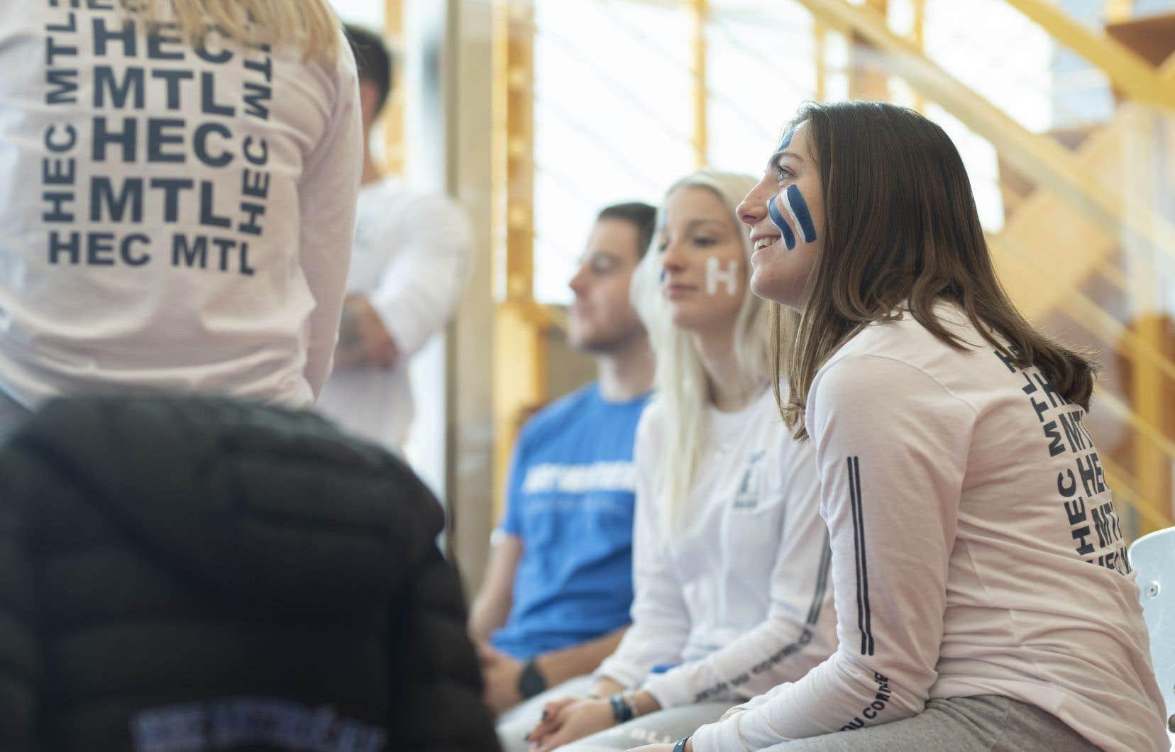 Des étudiants participant à la 32e édition des Jeux du commerce, qui se tenait à Montréal en janvier 2020.
