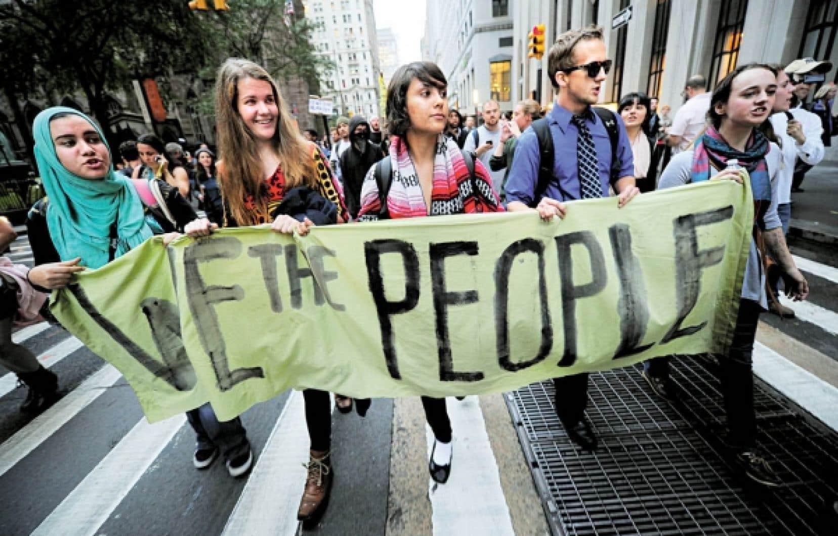 Apr&egrave;s un mois de manifestations, le mouvement Occupy Wall Street ne d&eacute;montre encore aucun signe d&rsquo;essoufflement.<br />