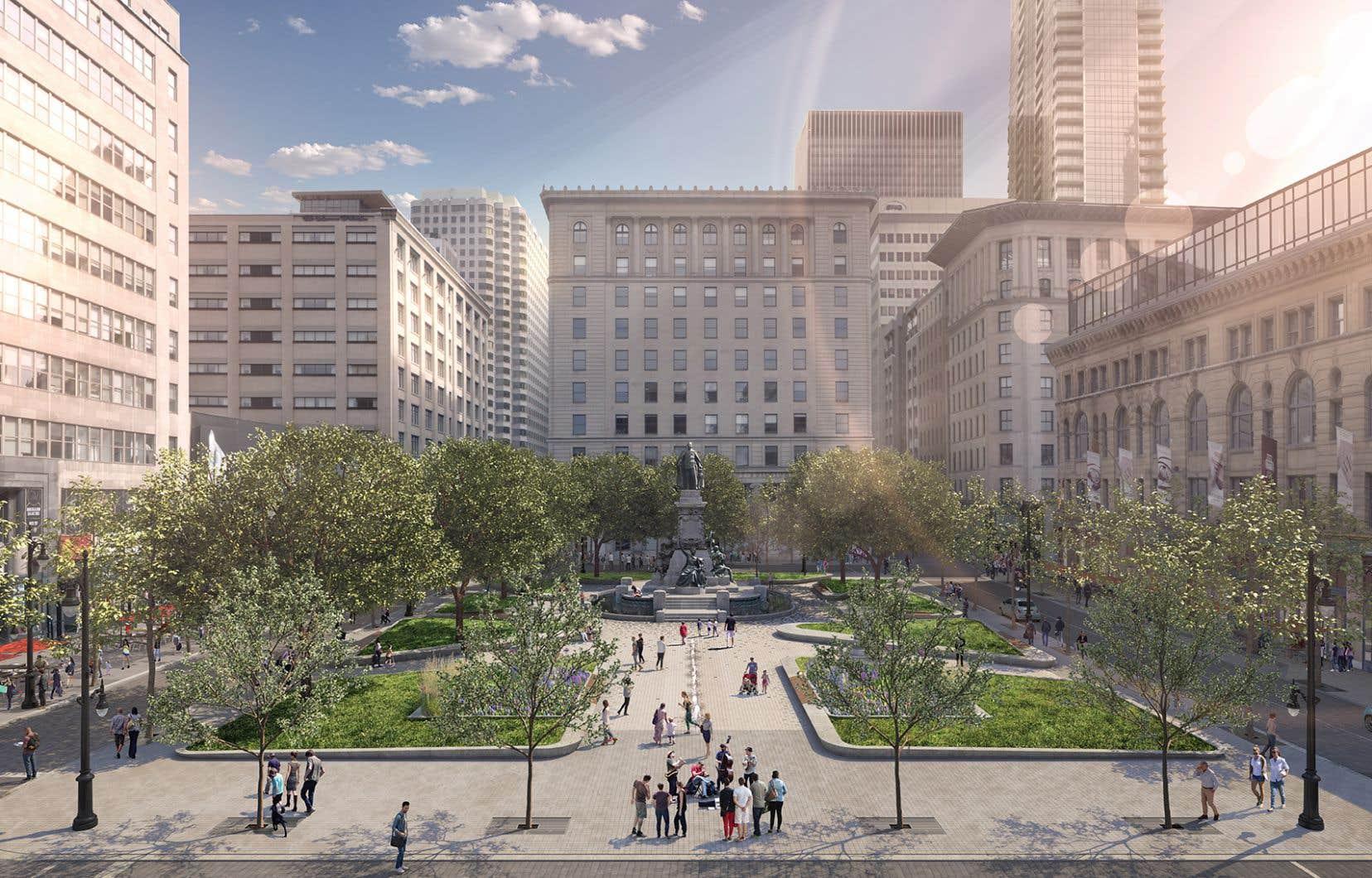 Le projet d'aménagement vise à renforcer l'identité première de la rue Sainte-Catherine Ouest tout en stimulant sa vitalité commerciale.