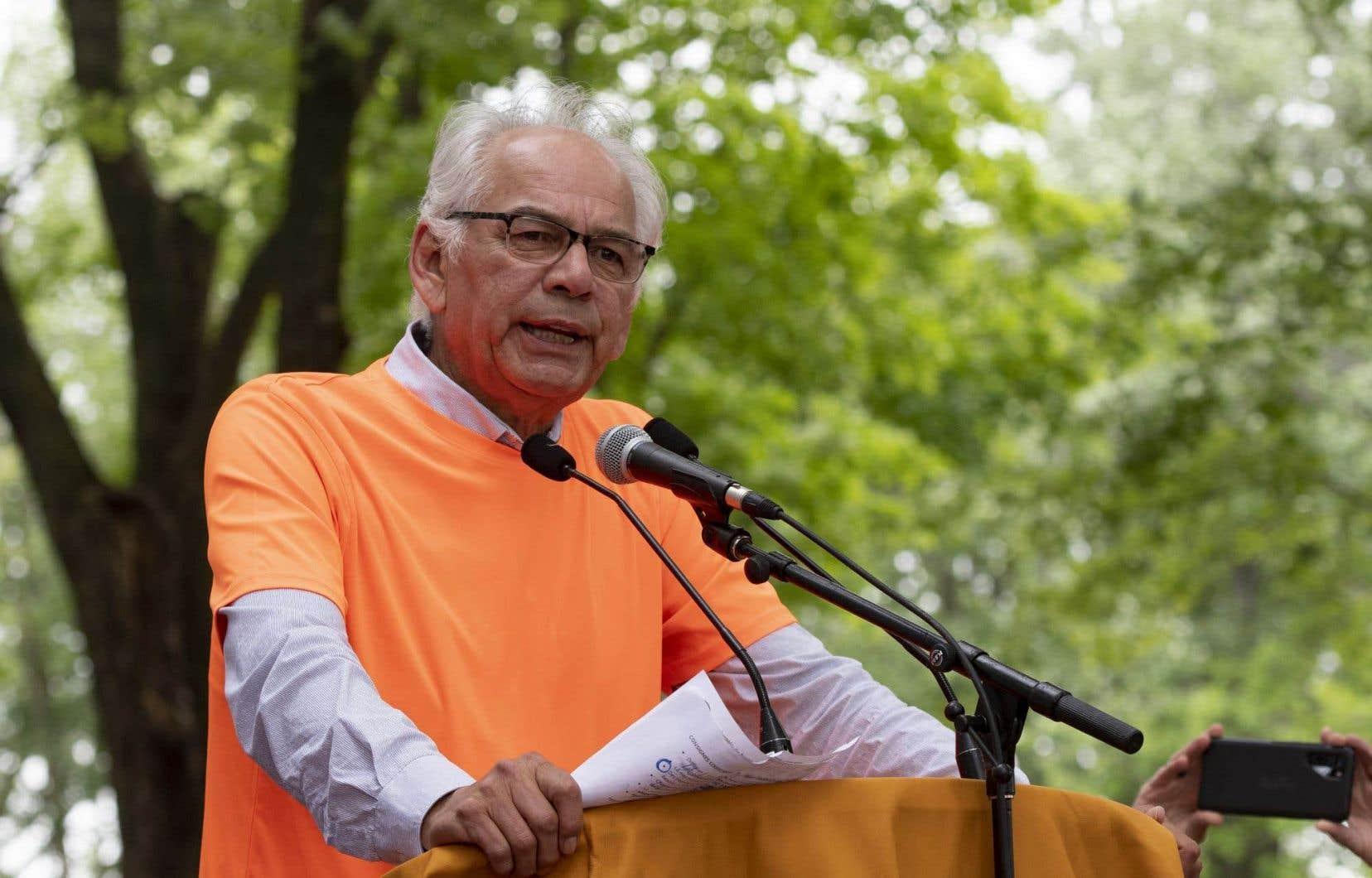 Ghislain Picard, à l'occasion d'un hommage aux victimes des pensionnats autochtones, le 1er juillet dernier