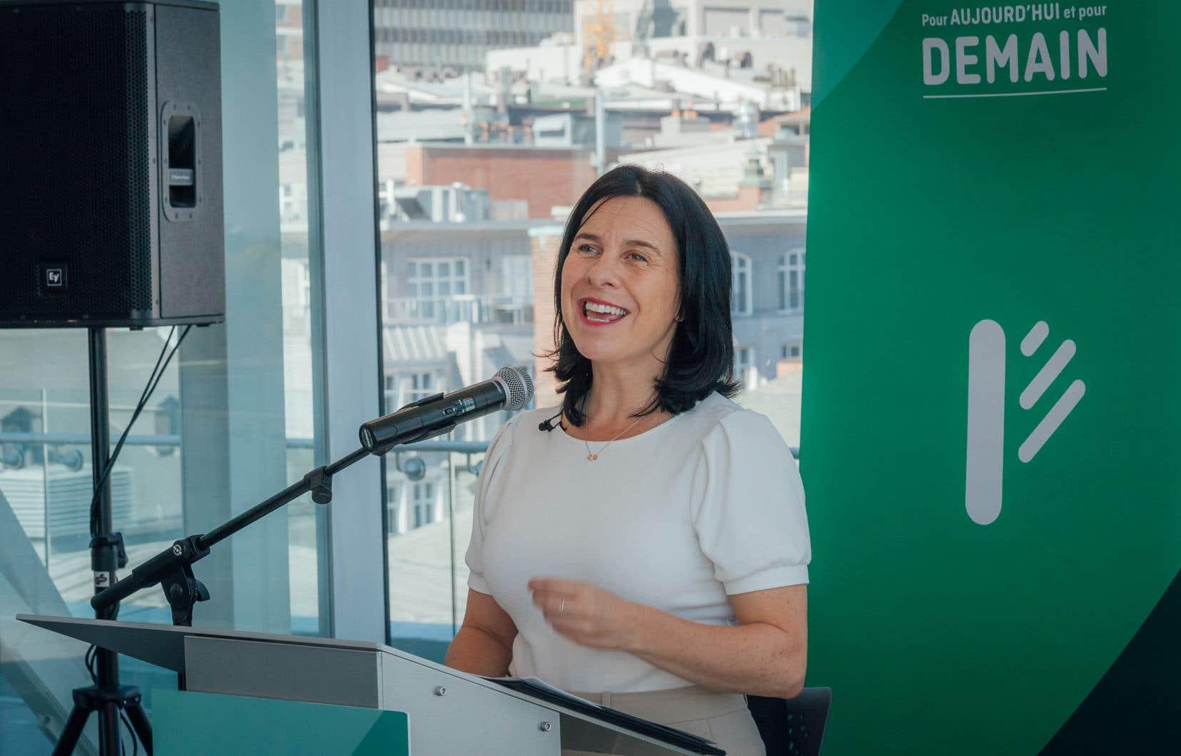 «On est aussi enthousiastes qu'en 2017, mais on a plus d'expérience», a soutenu Valérie Plante en dévoilant la plateforme électorale de son parti.