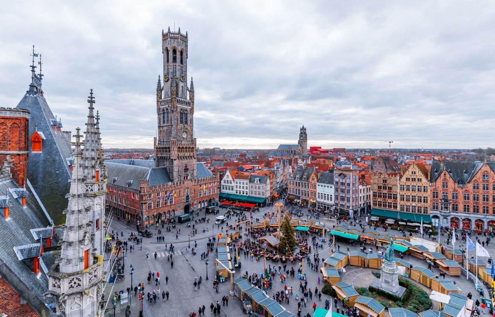 La ville de Bruges, en Belgique, qui accueille des millions de visiteurs par année