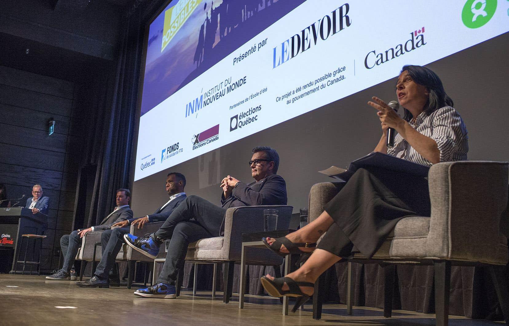 Le débat organisé par «Le Devoir» et l'Institut du Nouveau Monde en août 2021.
