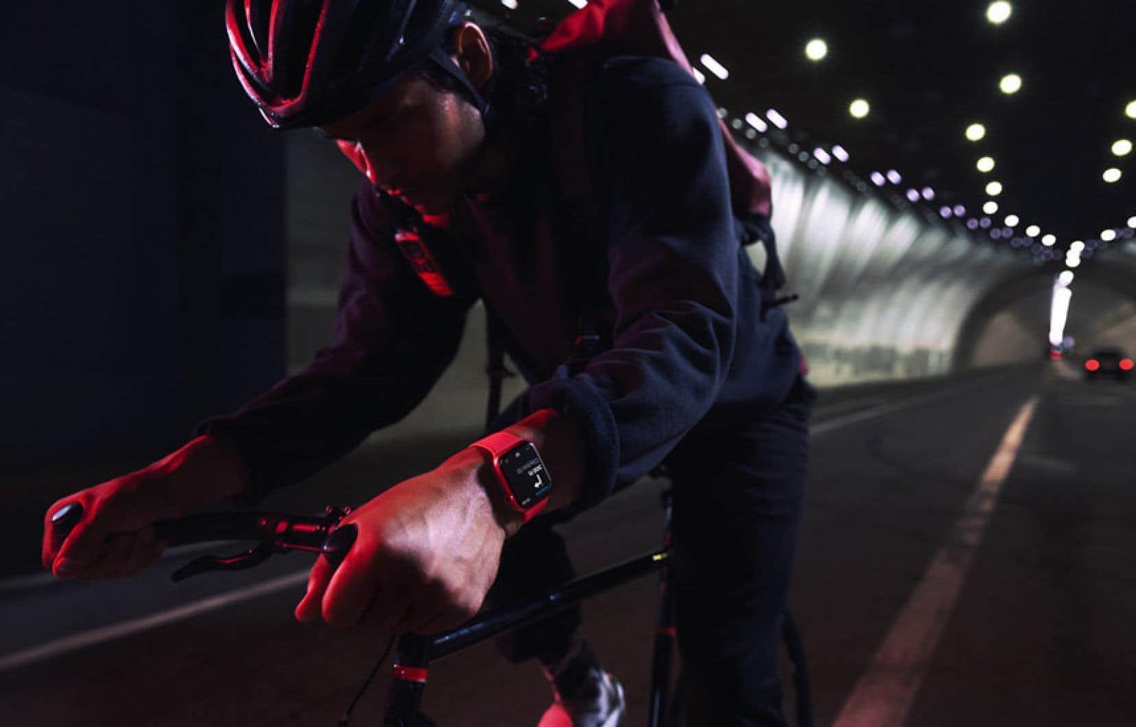 L'Apple Watch détecte quand son porteur enfourche son vélo.