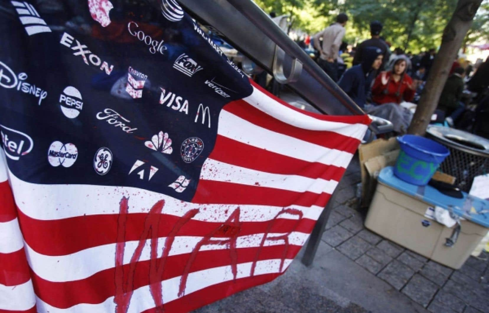 Manifestants américains du mouvement Occupy Wall Street<br />