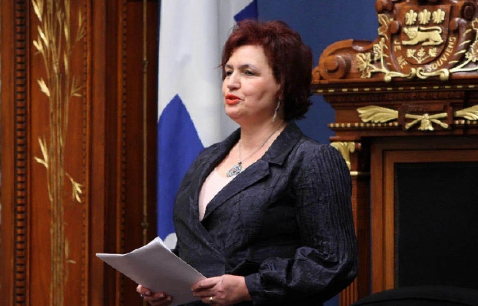 La politologue et députée Fatima Houda-Pepin, première vice-présidente de l'Assemblée nationale