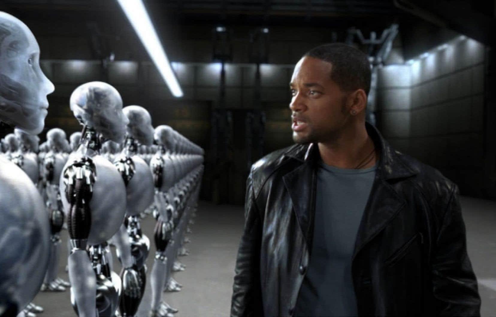 Une scène du film Les robots (I, Robot) d'Alex Proyas (2004).<br />