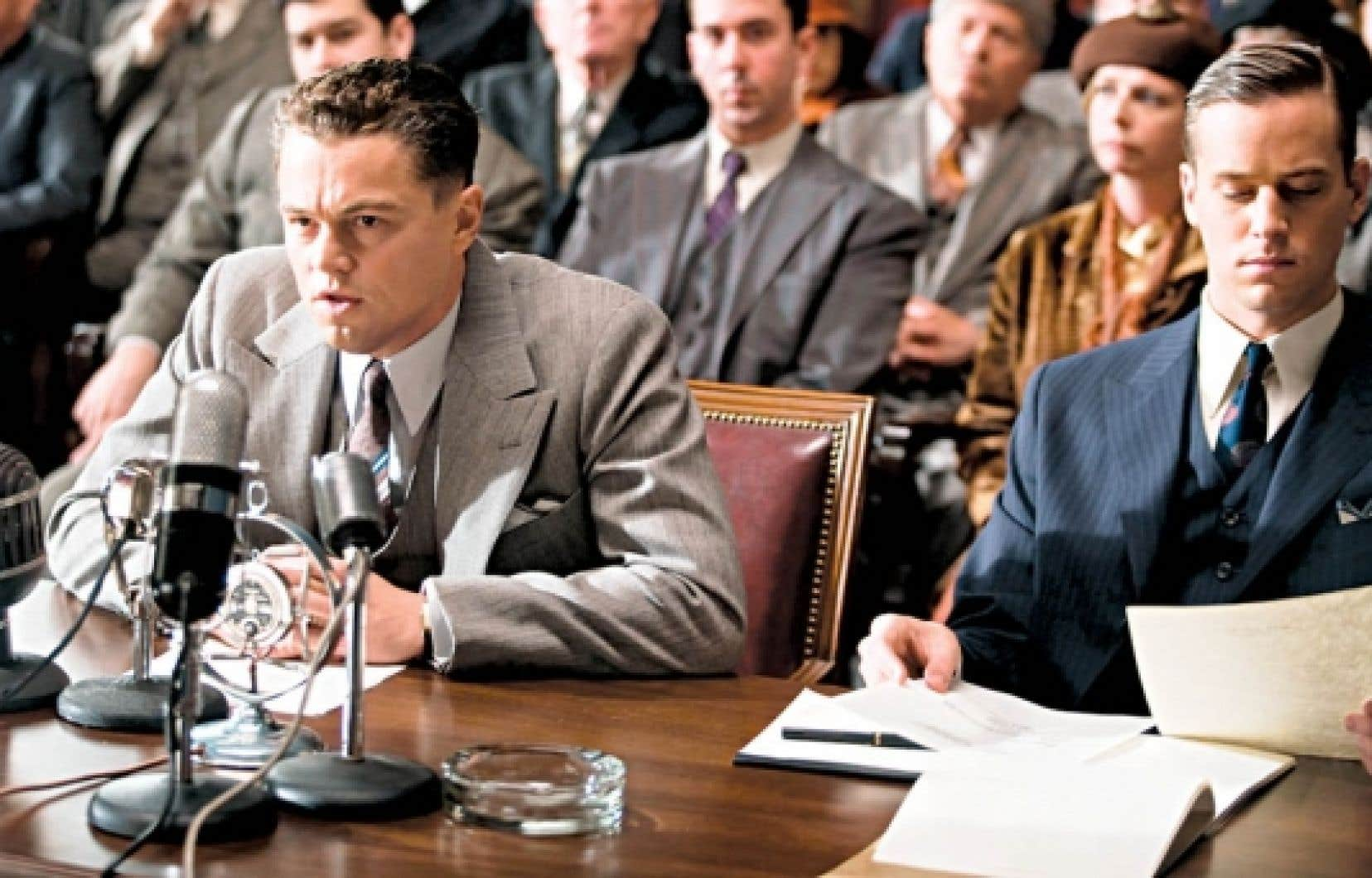 Leonardo DiCaprio, dans une scène de J. Edgar<br />