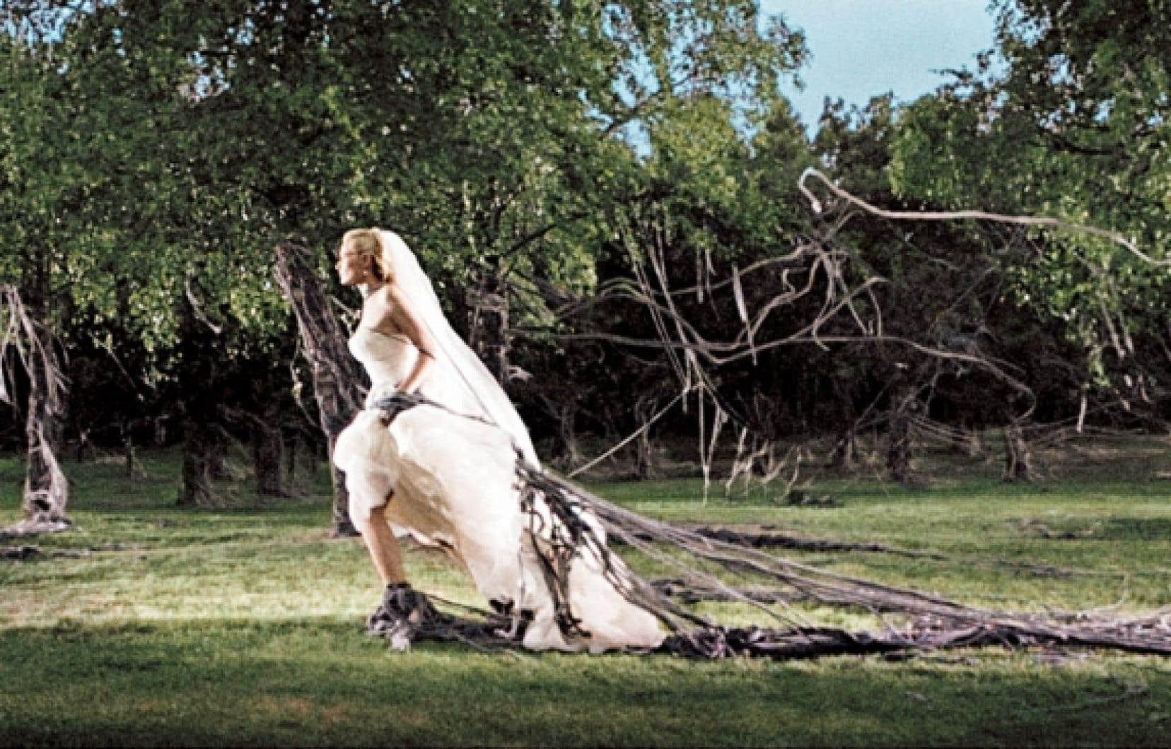 Kirsten Dunst dans Melancholia, de Lars Von Trier<br />