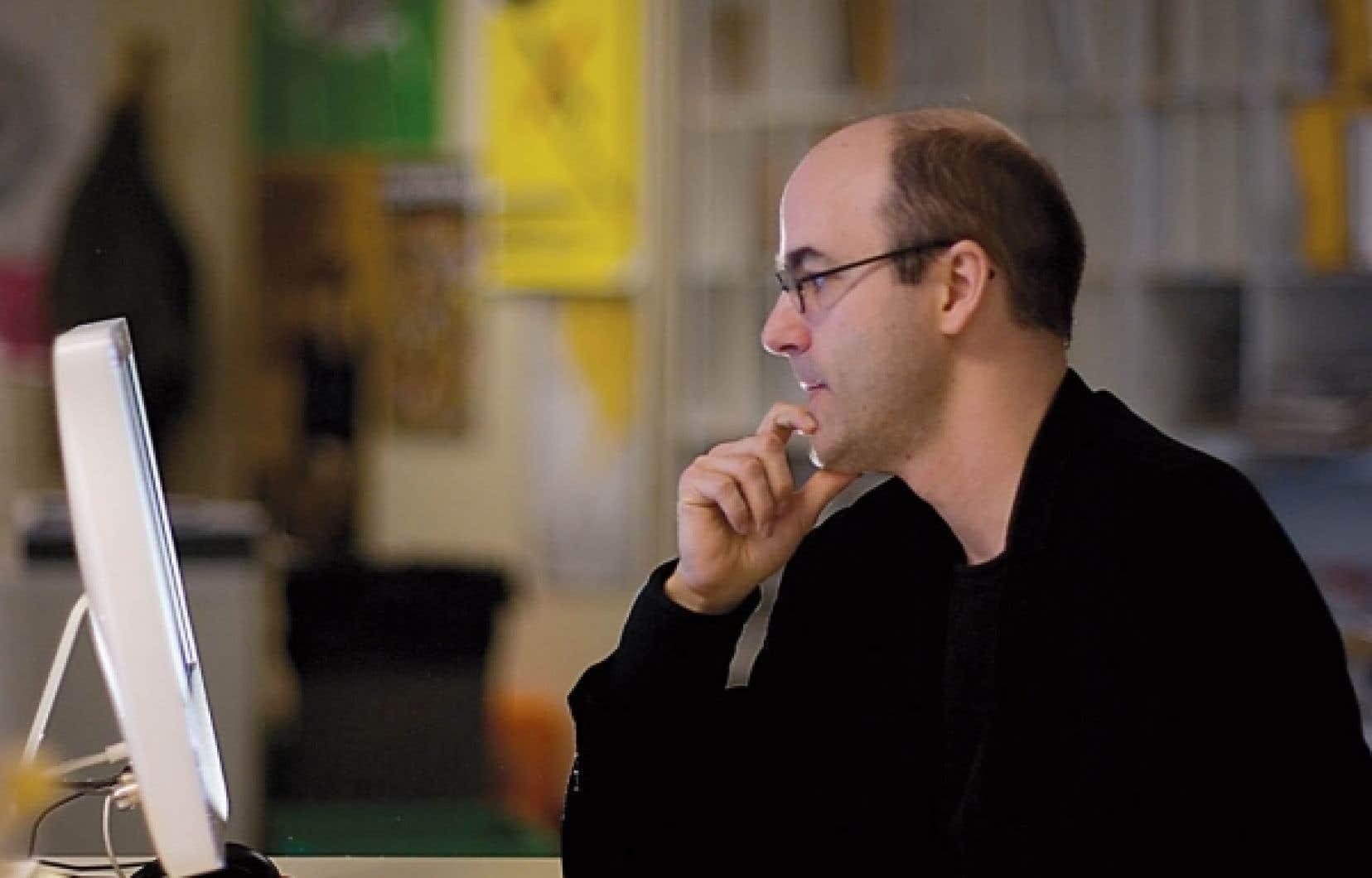 Le professeur de sociologie Alain Deneault, auteur de Noir Canada, un livre qui lui a valu les foudres de Barrick Gold.<br />
