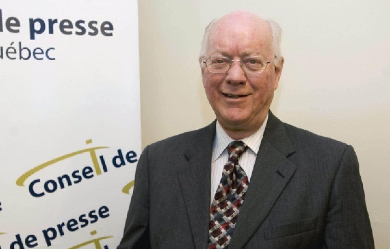 Le président du Conseil de presse, John Gomery.