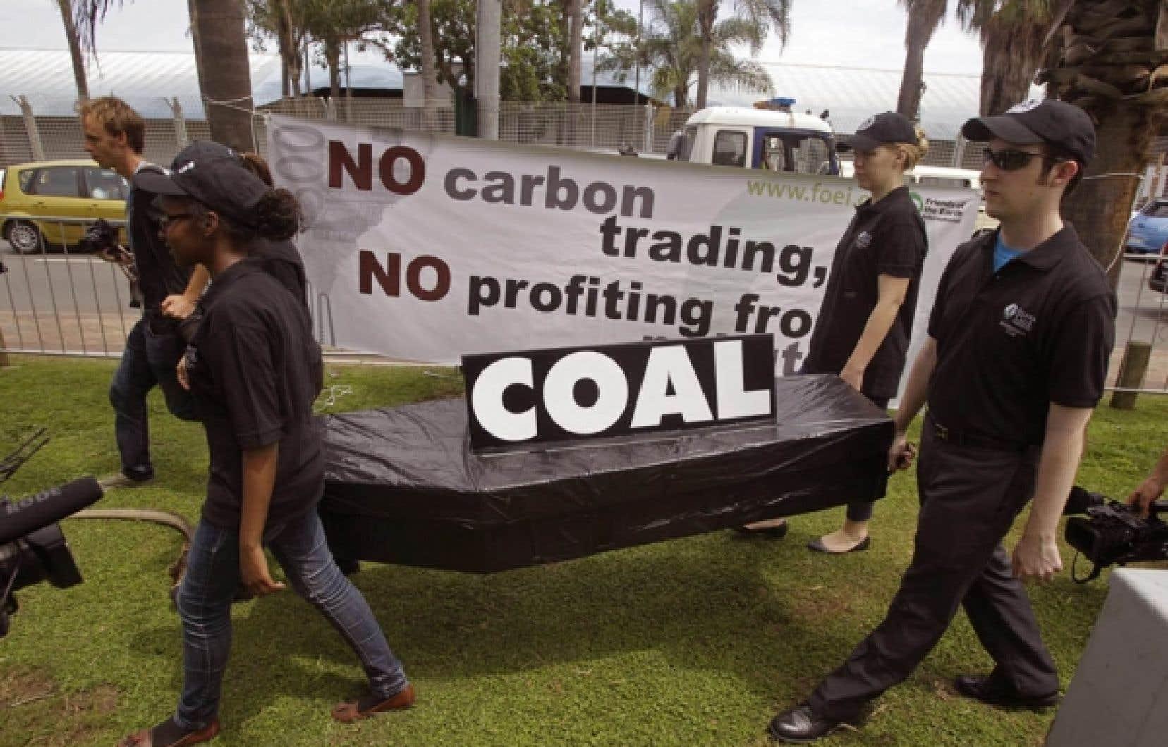 Une manifestation s'est tenue hier à Durban, en Afrique du Sud.