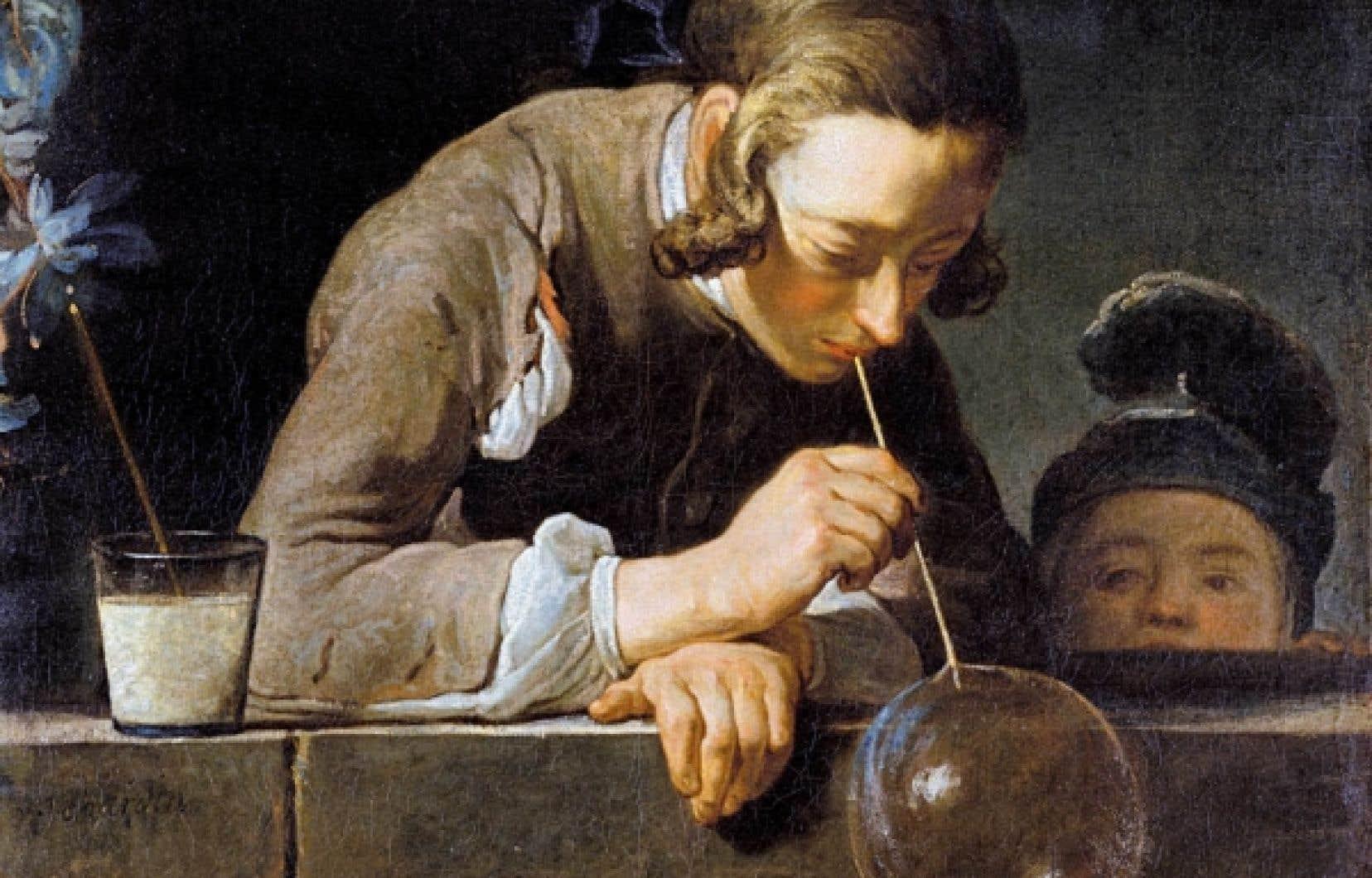 Jean-Baptiste Chardin, La bulle de savon, détail, 1739.<br />