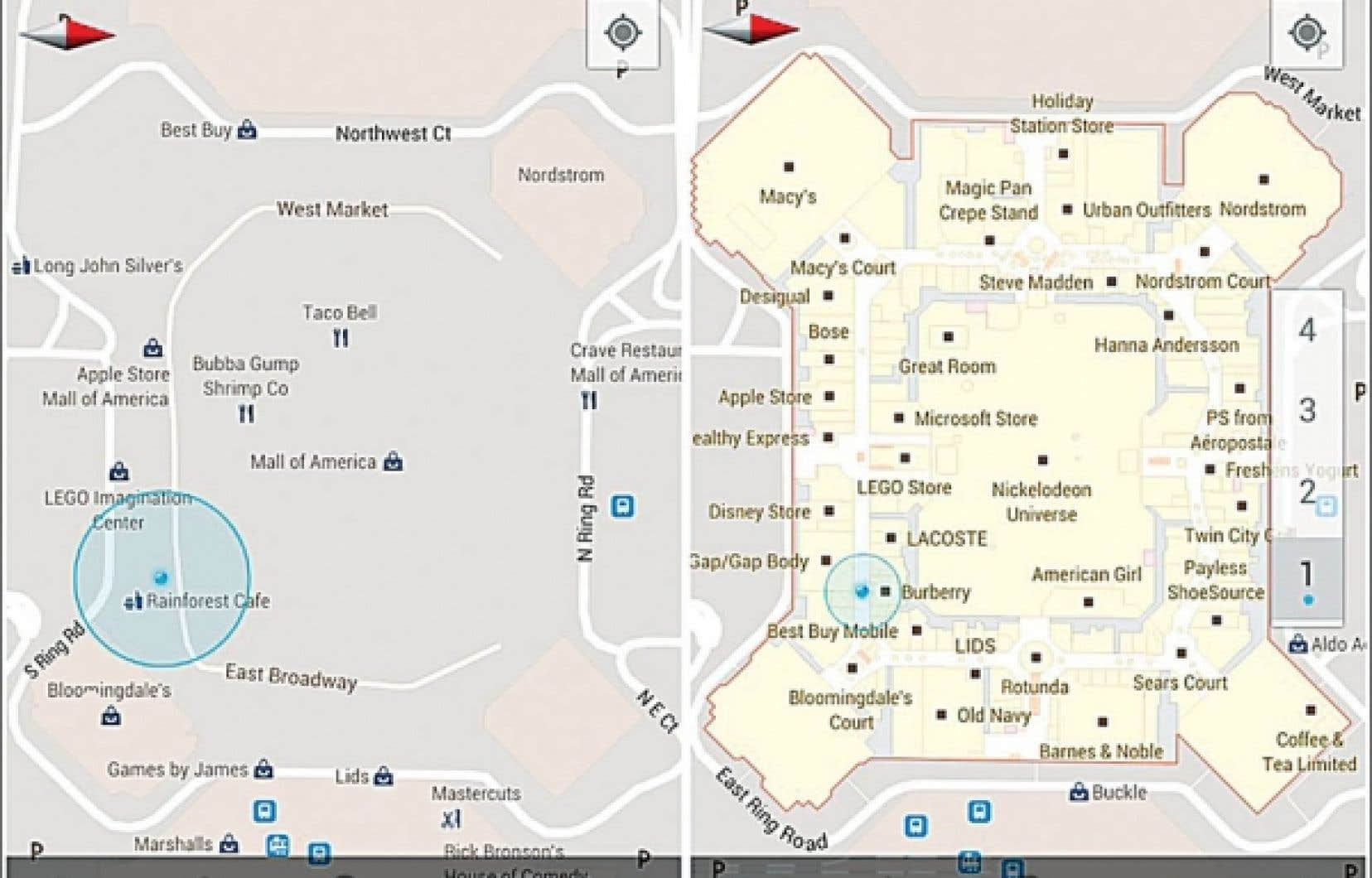Parmi les espaces int&eacute;rieurs int&eacute;gr&eacute;s &agrave; Google Maps, l&rsquo;American Mall, &agrave; New York<br />