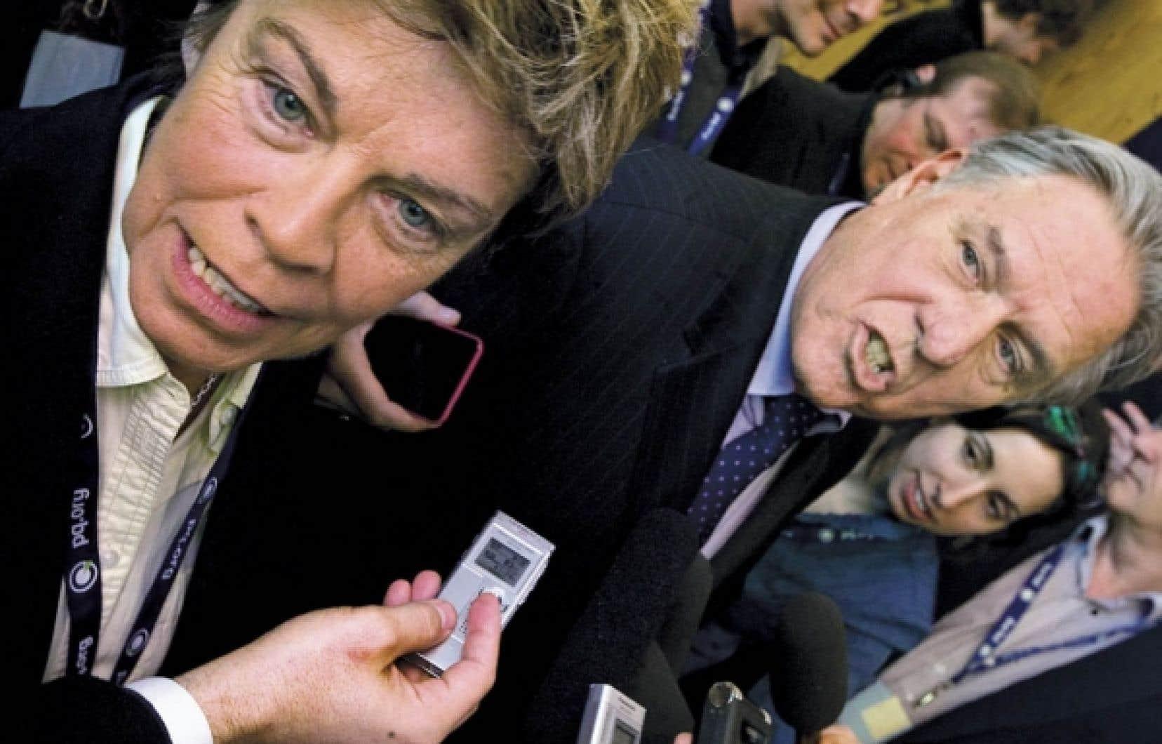 Louise Beaudoin et Pierre Curzi: &laquo;Faire de la politique autrement.&raquo;<br />