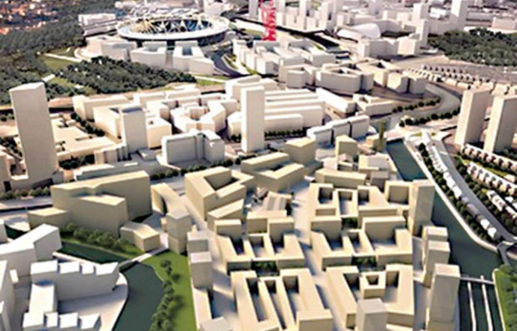 Situ&eacute; &agrave; 500 m&egrave;tres du stade olympique de Londres, le quartier con&ccedil;u par IKEA compte 1200 maisons neuves, 45 000 m&egrave;tres carr&eacute;s de bureaux, des commerces, des parcs ainsi qu&rsquo;un h&ocirc;tel de 350 chambres.<br />
