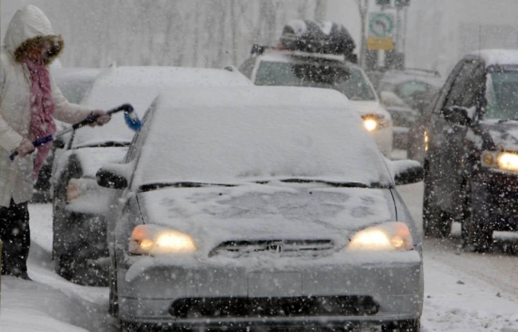 La tempête de neige de la semaine dernière a laissé une dizaine de centimètres sur la métropole.