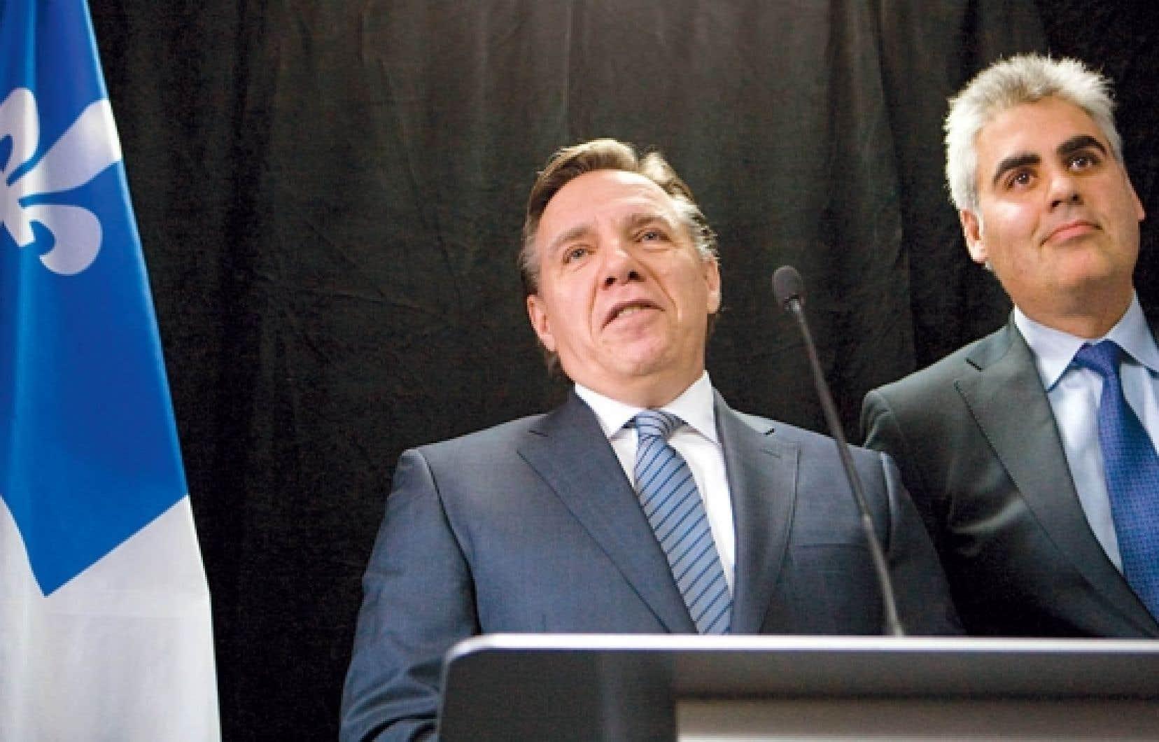 François Rebello (à droite) et François Legault ont officialisé leur alliance le 10 janvier dernier.<br />