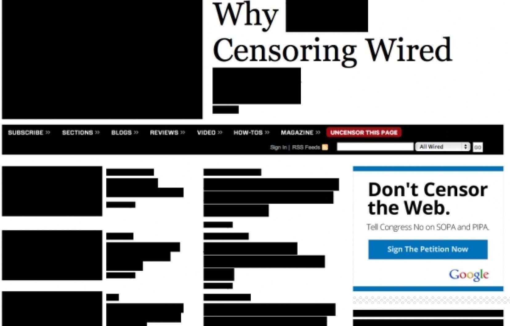 Le magazine Wired a marqué le coup sur la page d'accueil de son site.